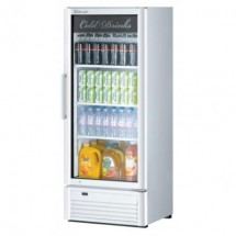 Turbo Air TGM-12SDW-N6 Super Deluxe White Swing Glass Door Refrigerated Merchandiser 26""