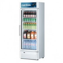 Turbo Air TGM-15SD-W-N6 Super Deluxe White Swing Door Refrigerated Merchandiser 26""