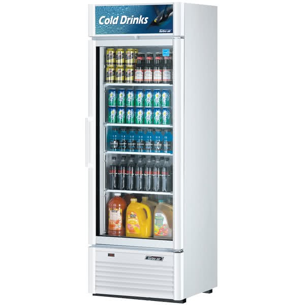 Turbo Air TGM-20SD Super Deluxe Single Glass Door Refrigerated Merchandiser - 17.5 Cu Ft.