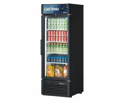 Turbo Air TGM-23SDB-N6 Super Deluxe Black Single Glass Door Refrigerated Merchandiser 27