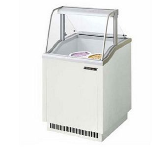 Turbo Air TIDC-26W 26'' White Ice Cream Dipping Cabinet