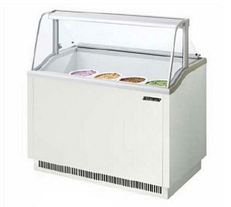 Turbo Air TIDC-47W 47'' White Ice Cream Dipping Cabinet