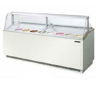 Turbo Air TIDC-91W 91'' White Ice Cream Dipping Cabinet