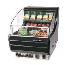 Turbo Air TOM-30LB Low-Profile Black Horizontal Open Display Merchandiser