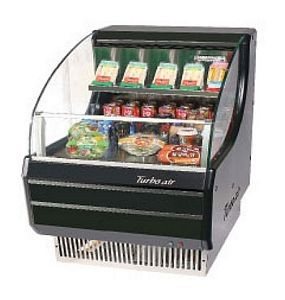 Turbo Air TOM-30SB Slim-Line Black Horizontal Open Display Merchandiser