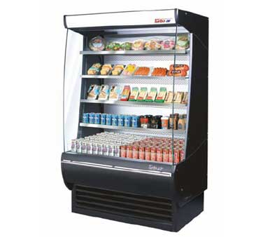 Turbo Air TOM-36-DX Extra Deep Vertical Open Display Merchandiser - 36