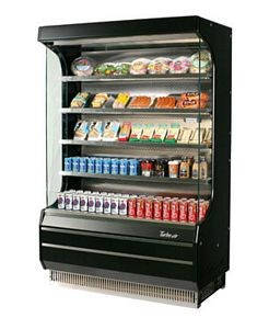 Turbo Air TOM-40B 39'' Black Vertical Open Display Merchandiser