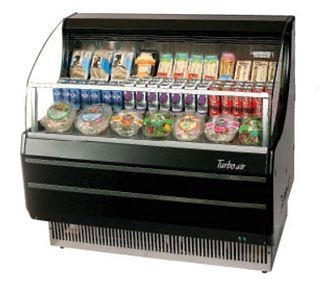Turbo Air TOM-40LB 39'' Low-profile Black Horizontal Open Display Merchandiser