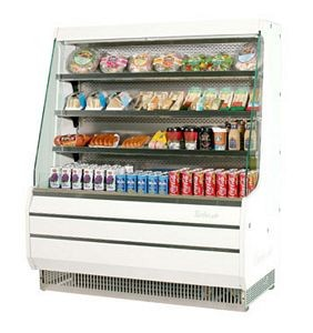 Turbo Air TOM-40M 39'' Mid-Height White Vertical Open Display Merchandiser