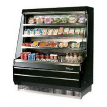 Turbo Air TOM-40MB 39'' Mid-Height Black Vertical Open Display Merchandiser