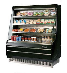Turbo Air TOM-40MB 39 Mid-Height Black Vertical Open Display Merchandiser