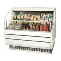 Turbo Air TOM-40S 39'' Slim-Line White Horizontal Open Display Merchandiser