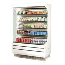 Turbo Air TOM-50 51'' White Vertical Open Display Merchandiser
