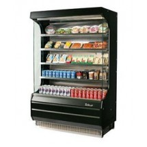 Turbo Air TOM-50B 51'' Black Vertical Open Display Merchandiser