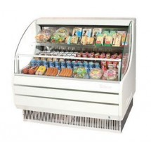 Turbo Air TOM-50L 51'' Low-Profile White Horizontal Open Display Merchandiser