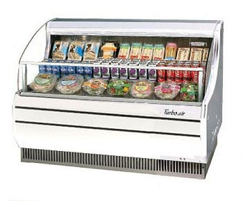 Turbo Air TOM-50S 51'' Slim-Line White Horizontal Open Display Merchandiser