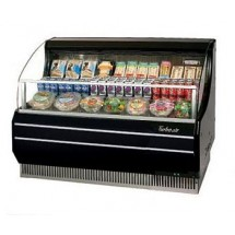 Turbo Air TOM-50SB 51'' Slim-Line Black Horizontal Open Display Merchandiser