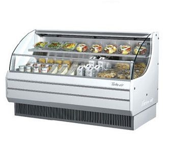 Turbo Air TOM-60L 64'' Low-Profile White Horizontal Open Display Merchandiser