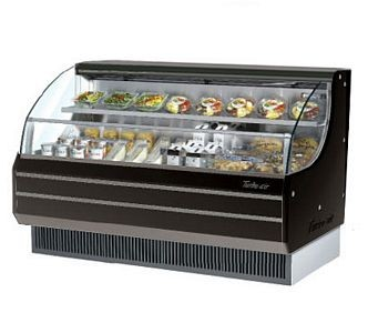 Turbo Air TOM-60LB 64'' Low-Profile Black Horizontal Open Display Merchandiser