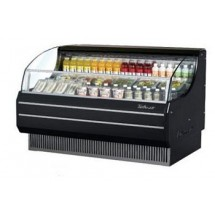 Turbo Air TOM-60SB 64'' Slim-Line Black Horizontal Open Display Merchandiser