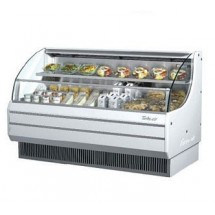 Turbo Air TOM-75L 76'' Low-Profile White Horizontal Open Display Merchandiser