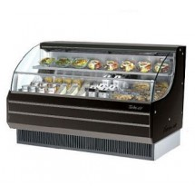 Turbo Air TOM-75LB 76'' Low-Profile Black Horizontal Open Display Merchandiser
