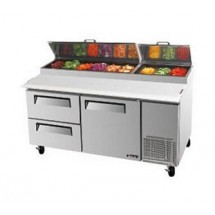 Turbo Air TPR-67SD-D2 Two-Section Super Deluxe Pizza Prep Table