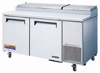 Turbo Air TPR-67SD Two-Section Super Deluxe Pizza Prep Table