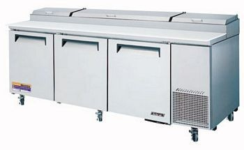 Turbo Air TPR-93SD-N Super Deluxe Refrigerated Pizza Prep Table 93