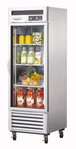 Turbo Air TSR-23GSD-N6 Super Deluxe  One-Section Reach-In Glass Door Refrigerator