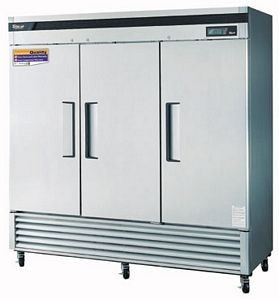 Turbo Air TSR-72SD-N Three-Section 72 Cu. Ft. Reach-In Super Deluxe Refrigerator