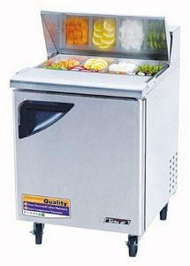 Turbo Air TST-28SD-N 1 Door Refrigerated Sandwich Prep Table 28