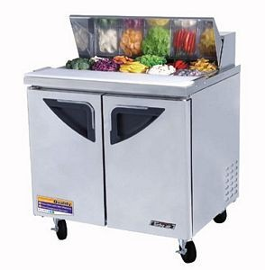 Turbo Air TST-36SD-N6 2 Door Refrigerated Sandwich Prep Table 36