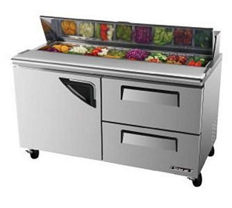 Turbo Air TST-60SD-D2 1 Door 2 Drawer Refrigerated Sandwich Prep Table 60