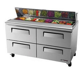 Turbo Air TST-60SD-D4 Two-Section Super Deluxe Sandwich/Salad Unit