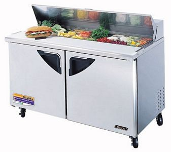 Turbo Air TST-60SD Two-Section 16 Cu. Ft. 2 Door Super Deluxe Sandwich/Salad Unit