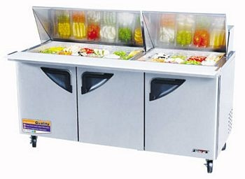 Turbo Air TST-72SD-30 Three-Section Mega Top Super Deluxe Sandwich/Salad Unit