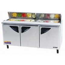 Turbo Air TST-72SD-N  Super Deluxe 3 Door Refrigerated Sandwich Prep Table 73