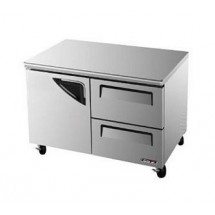 Turbo Air TUF-48SD-D2 Two-Section 12 Cu. Ft. Super Deluxe Series Undercounter Freezer
