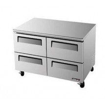 Turbo Air TUF-48SD-D4 Two-Section 12 Cu. Ft. 4 Drawer Super Deluxe Series Undercounter Freezer