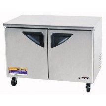 Turbo Air TUF-48SD-N  Super Deluxe 2-Door Undercounter Freezer 48