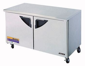 Turbo Air TUF-60SD Two-Section 16 Cu. Ft. 2 Drawer Super Deluxe Series Undercounter Freezer