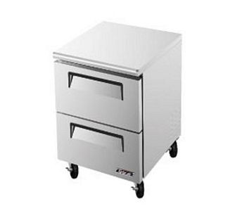Turbo Air TUR-28SD-D2 One-Section 7 Cu. Ft. 2 Drawer Super Deluxe Series Undercounter Refrigerator