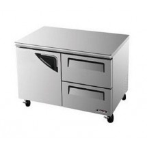 Turbo Air TUR-48SD-D2 One-Section 12 Cu. Ft. 2 Drawer Super Deluxe Series Undercounter Refrigerator