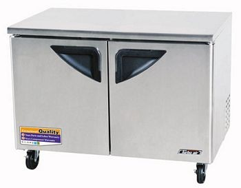 Turbo Air TUR-48SD Two-Section 12 Cu. Ft. 2 Drawer Super Deluxe Series Undercounter Refrigerator