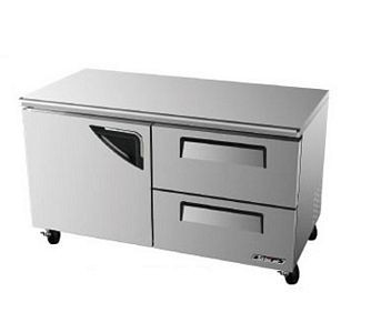 Turbo Air TUR-60SD-D2 One-Section 16 Cu. Ft. 2 Drawer Super Deluxe Series Undercounter Refrigerator