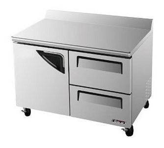Turbo Air TWF-48SD-D2-N Super Deluxe 2 Drawer Worktop Freezer 48