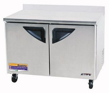 Turbo Air TWF-48SD-N Super Deluxe 2 Door Worktop Freezer 48