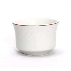 Tuxton YBB-0752 Monterey Berry Rim China Bouillon Cup  3-5/8