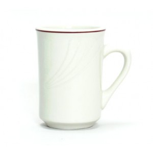 Tuxton YBM-080 Monterey Berry Rim China Mug  2-7/8